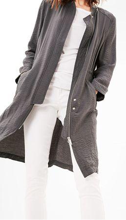s.Oliver Dámsky dlhý šedý kabát (Veľkosť 36)  58c7ef981d5