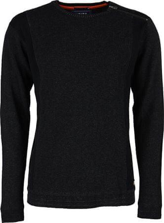 Noize Męska koszulka z długimi rękawami sweter węglem 4523235-00 (rozmiar XL)