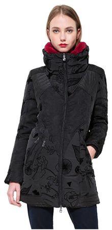 Desigual Dámsky kabát Abrigo Bratislava 17WWEW43 2000 (Veľkosť 36)
