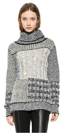 Desigual Dámsky sveter Jers Charlie 17WWJF30 1000 (Veľkosť XS)