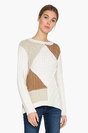 Desigual Dámsky sveter Jers Mara 17WWJF18 1001 (Veľkosť XS)