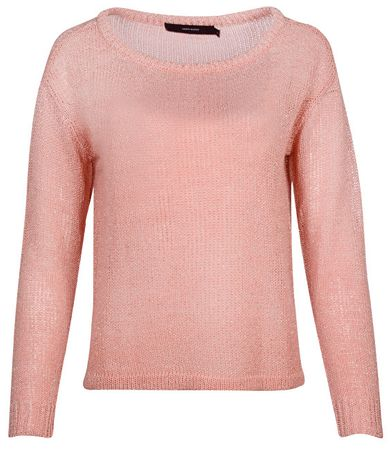 Vero Moda Dámsky sveter Rylia Ls Wide Boatneck Blouse Strawberry Ice (Veľkosť M)