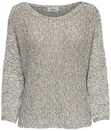 ONLY Dámsky sveter Silvia L/S Pullover KNT Cloud Dancer (Veľkosť L)