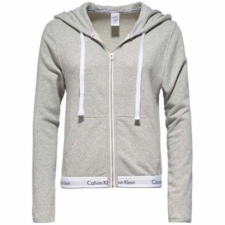 Dámská mikina Top Hoodie Full Zip QS5667E-020 Grey Heather (Velikost S) f37cefa69f