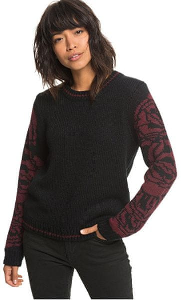 Roxy Dámský svetr Melrose Muse True Black ERJSW03287-KVJ0 (Velikost M)