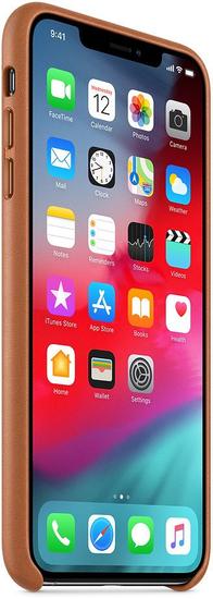 Apple kožna maskica za iPhone XS Max, smeđa MRWV2ZM/A