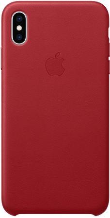 Apple usnjen ovitek za iPhone XS Max (PRODUCT)RED, rdeč MRWQ2ZM/A