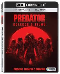 Komplet PREDÁTOR 1-3 (Predátor + Predátor 2 + Predátoři)    - Blu-ray + 4K ULTRA HD