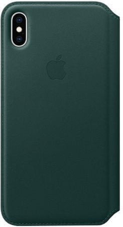 Apple bőrtok Folio iPhone XS Max-ra, fenyő zöld színű MRX42ZM/A