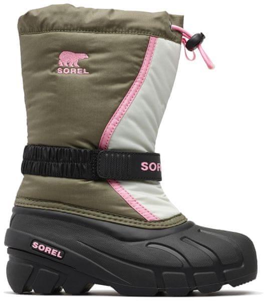 Sorel dětské sněhule FLURRY™ 34 růžová/zelená