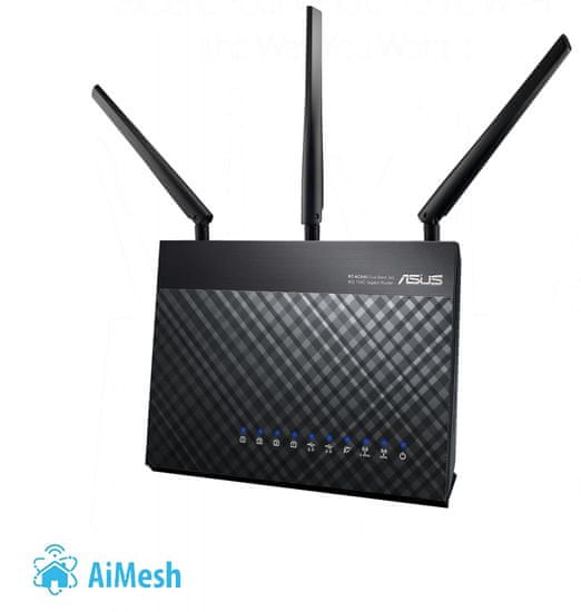 Asus Brezžični router RT-AC68U, AC1900 Dual-Band Gigabit WiFi