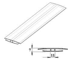 LanitPlast Polykarbonátový H-profil 4 mm 6 m