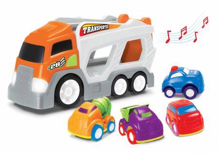 Wiky Ciężarówka z czterema autkami