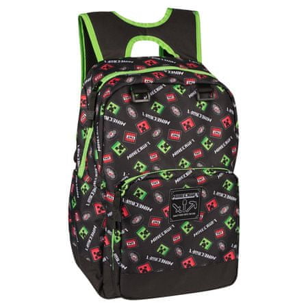J!NX nahrbtnik Minecraft Scatter Creeper Backpack, 43 cm