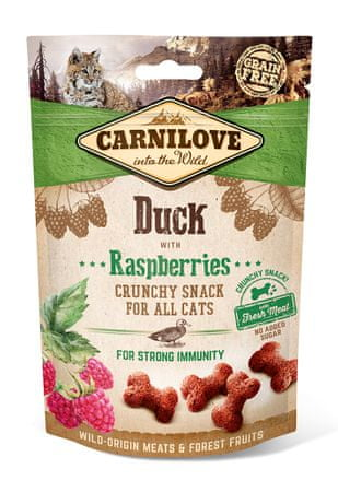 Carnilove Cat Crunchy Snack Duck with Raspberries with fresh meat 3x50g
