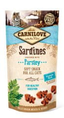Carnilove Cat Semi Moist Snack Sardine enriched with Parsley 3x50g