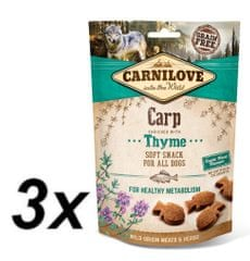 Carnilove Dog Semi Moist Snack Carp enriched with Thyme 3x200g