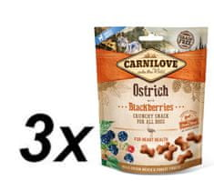 Carnilove Dog Crunchy Snack Ostrich with Blackberries with fresh meat 3x200g