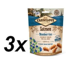 Carnilove Dog Crunchy Snack Salmon with Blueberries with fresh meat 3x200g