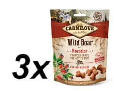 Carnilove Dog Crunchy Snack Wild Boar with Rosehips with fresh meat 3x200g