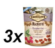 Carnilove Dog Crunchy Snack Mackerel with Raspberries with fresh meat 3x200g