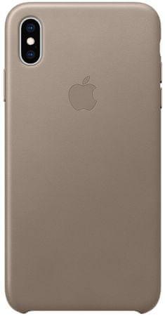 Apple kožený kryt na iPhone XS Max, kouřová MRWR2ZM/A