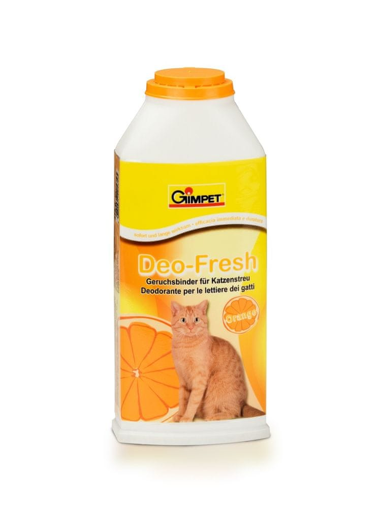 Gimborn Deo-Fresh deodorant do kočičích toalet pomerančový 375g