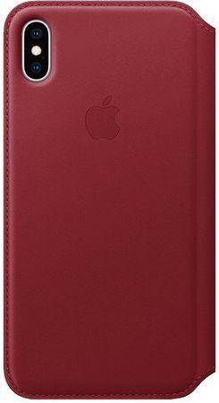 Apple kožené puzdro Folio na iPhone XS Max (PRODUCT)RED, červená MRX32ZM/A