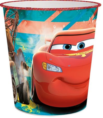 Stor koš za smeti Cars, 21 x 22,7 x 16,4 cm
