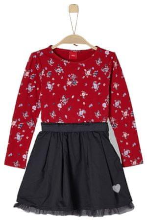 s.Oliver dívčí šaty 110 červená