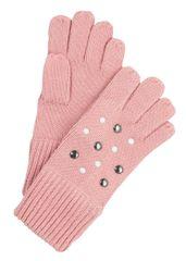 s.Oliver Rękawiczki dziewczęce z perełkami 1 różowy