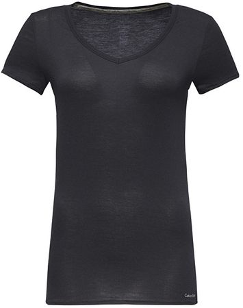 Calvin Klein Dámske tričko Top S/S Layering QS5490E -001 (Veľkosť M)