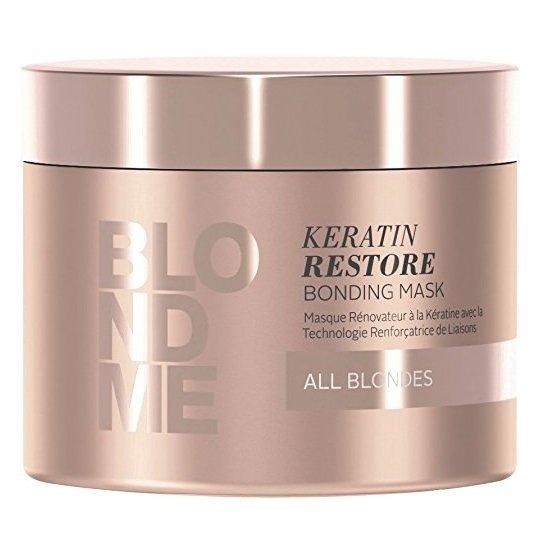 Schwarzkopf Prof. Obnovující keratinová maska pro blonďaté vlasy BLONDME (Keratin Restore Bonding Mask) (Objem 200 ml)