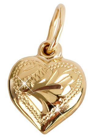 c27dc548e Brilio Zlatý prívesok Srdce 242 001 00001 - 0,70 g žlté zlato 585 ...