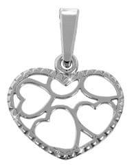 Brilio Silver Szív alakú medál 441 001 02 068 04-0,52 g ezüst 925/1000