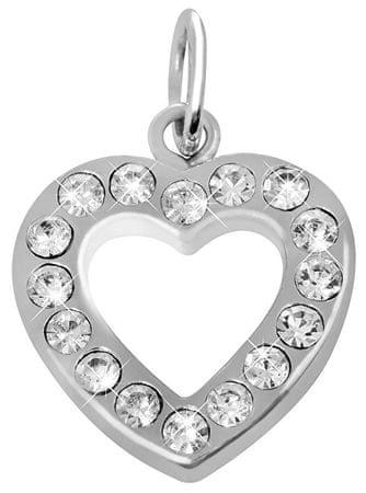Brilio Silver Srebro wisiorek Srdíčko z kryształkami 448 001 00132 04 - 1,56 g srebro 925/1000