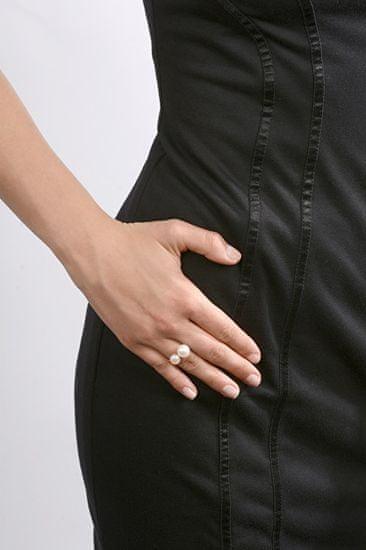 JwL Luxury Pearls Srebrni prstan s kovinsko modrimi biseri JL0504 srebro 925/1000