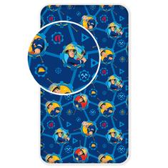 Jerry Fabrics Bavlněné prostěradlo požárník Sam 008 90x200 cm