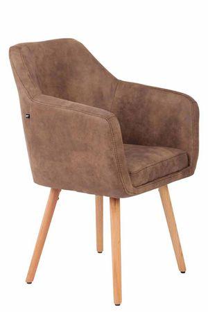 BHM Germany Jídelní židle Tappa, přírodní nohy, vintage, taupe