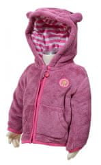 PIDILIDI Dívčí fleecová mikina s kapucí - růžová