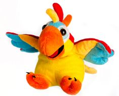 Teddies DJ mluvící papoušek rapper plyš 25 cm