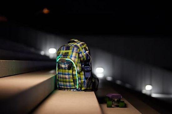 Wheel Bee ruksak LED Generation Z, plava/zelena/bijela, 30 l