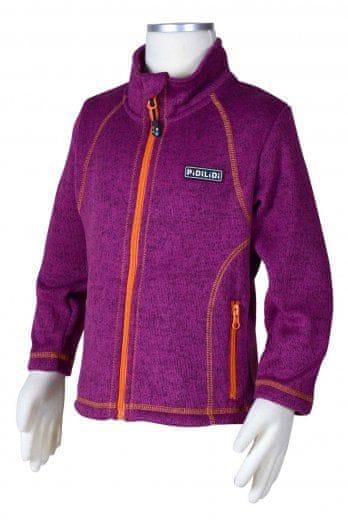PIDILIDI Dívčí svetr na zip 134 fialový