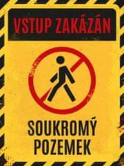 Postershop Plechová cedule - Vstup zakázán, soukromý pozemek