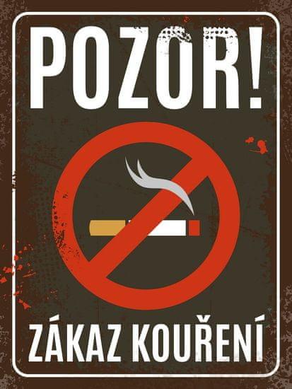 Postershop Plechová cedule - Zákaz kouření