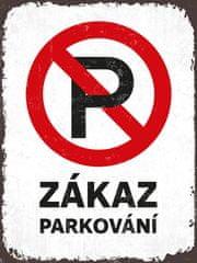 Postershop Plechová cedule - Zákaz parkování