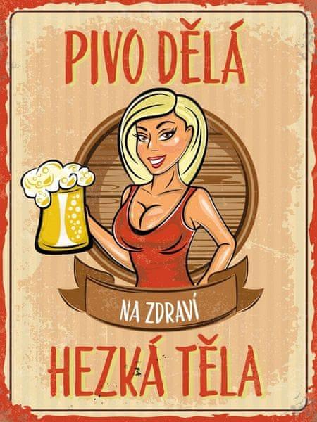 Postershop Plechová cedule - Pivo dělá hezká těla (2)