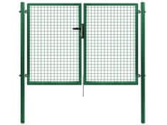 Dvoukřídlá brána PILGATE poplastovaná Zn+PVC 3024×1450 mm