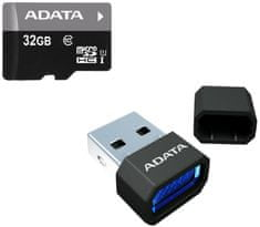 Adata Micro SDHC Premier 32GB UHS-I + USB čtečka (AUSDH32GUICL10-RM3BKBL)