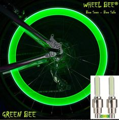 Wheel Bee kolesarska svetilka LED Cycle Bee, zelena